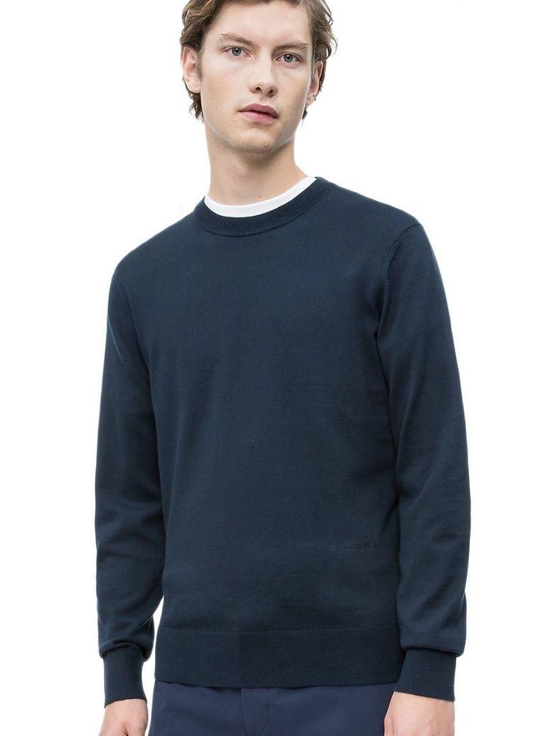 Calvin Klein Navy Premium Cotton Jumper