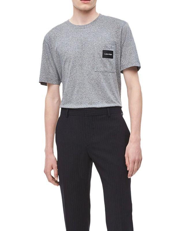 Calvin Klein Mid Grey Heather Logo Pocket T-Shirt