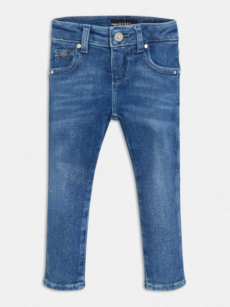 Guess Kids Glitter Skinny Fit Denim Jeans
