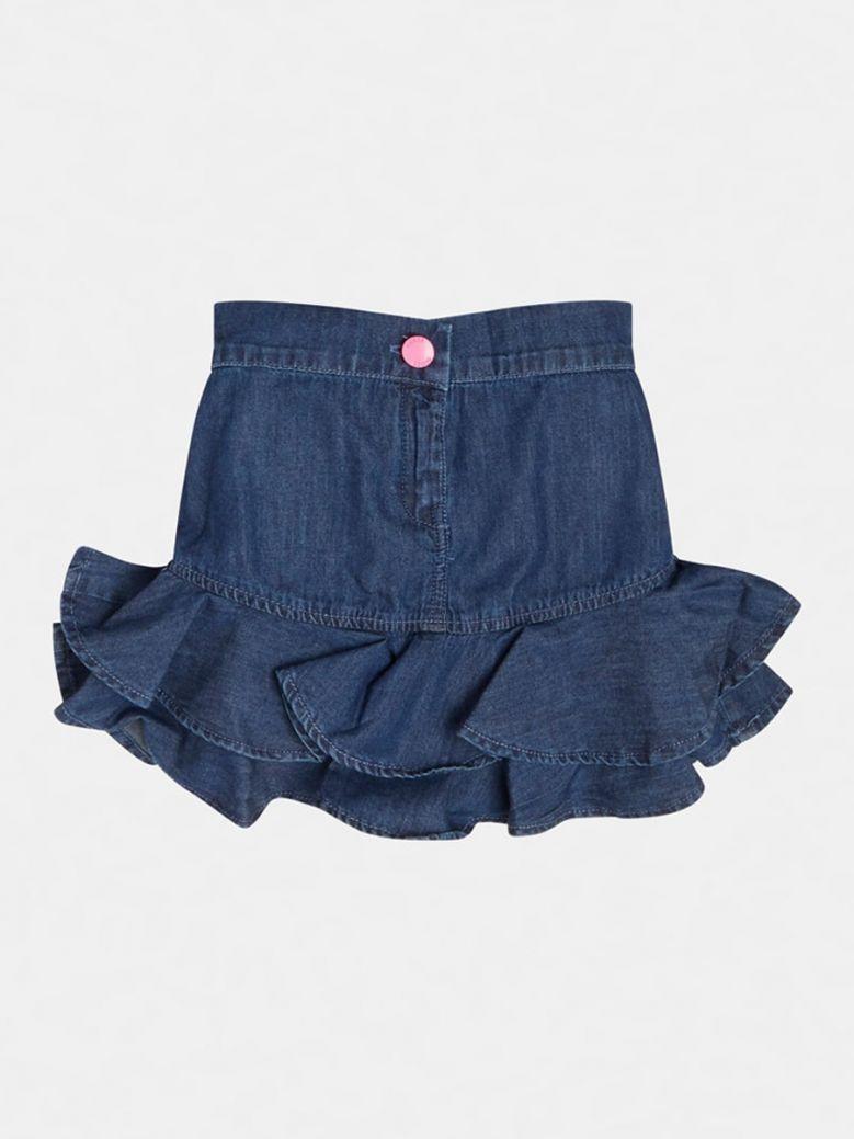 Guess Kids Dark Blue Flounced Denim Skirt