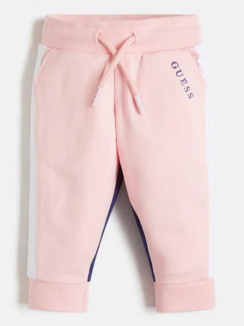 Guess Kids Pink Colour Block Terry Pants