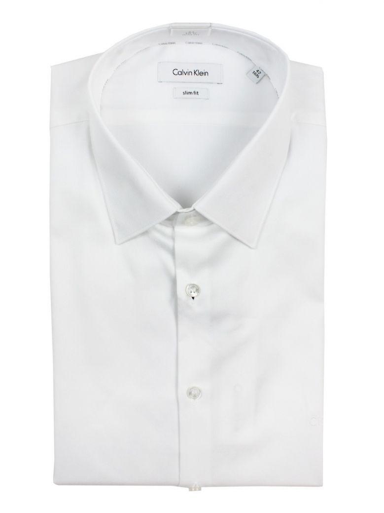 Calvin Klein White Easy Iron Slim Fit Shirt
