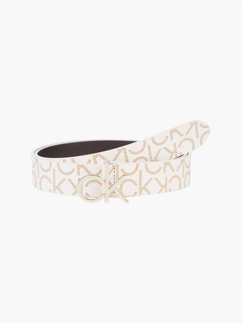 Calvin Klein Birch Mono Logo Belt