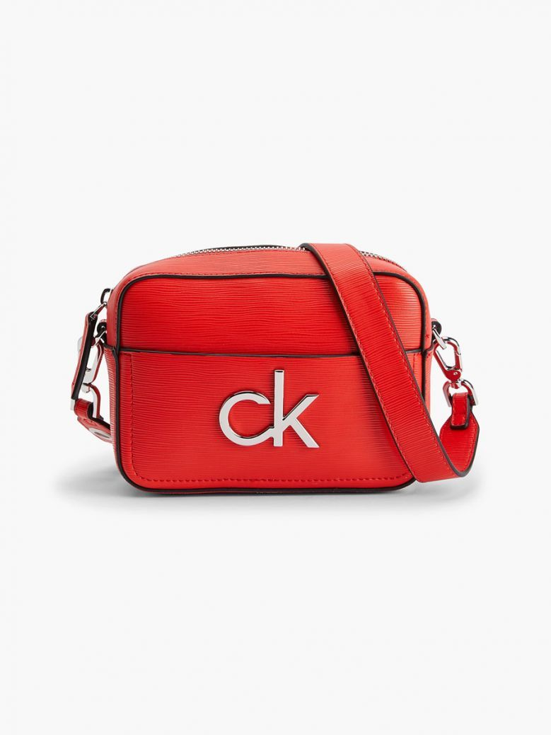 Calvin Klein Vibrant Coral Crossbody Bag