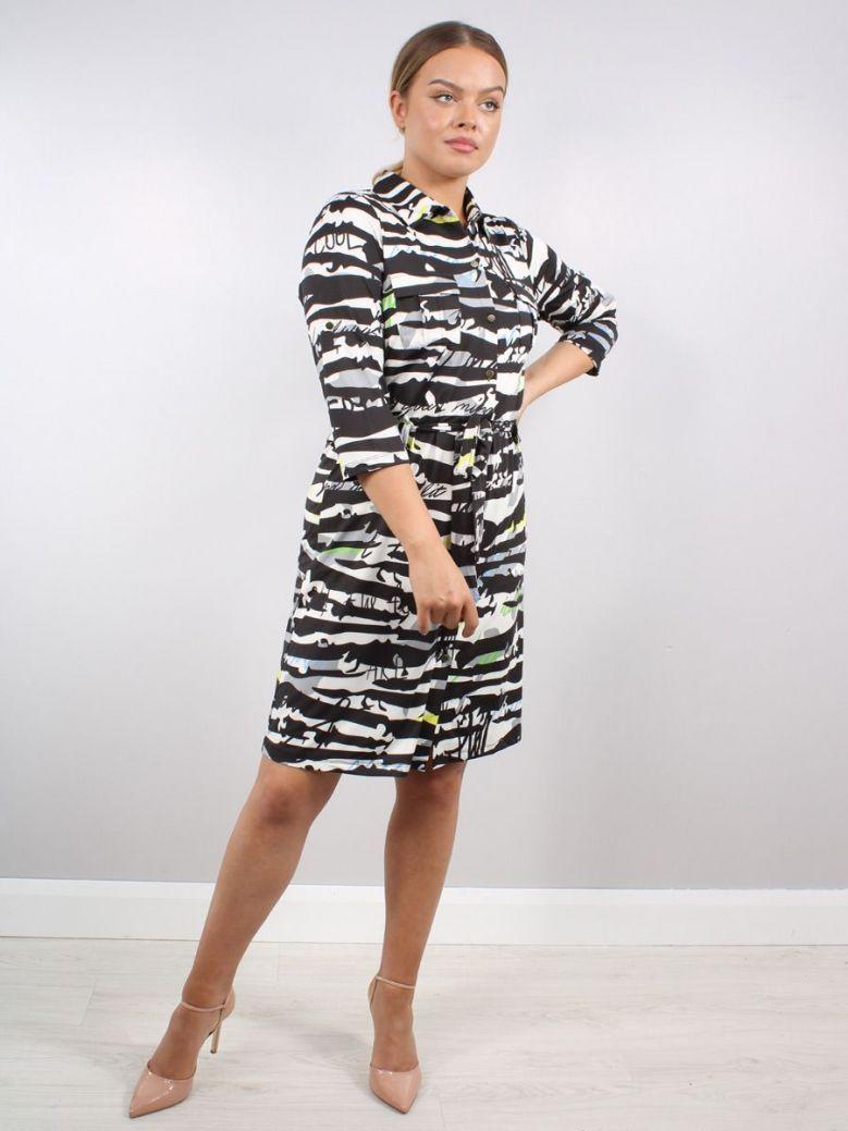 K Design Graffiti Print Shirt Dress Multi