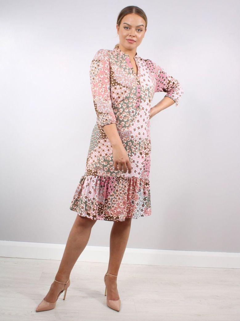 K Design Meadow Flower Print Dress Pink