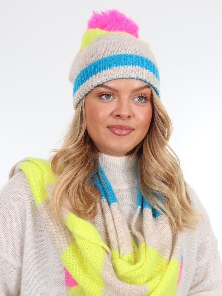 Kaos Mixed Stripe Hat Multi