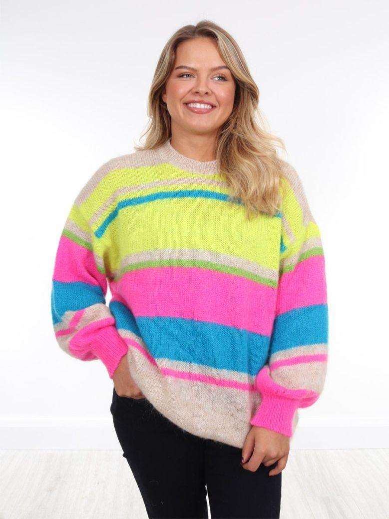 Kaos Mixed Stripe Knit Jumper Multi
