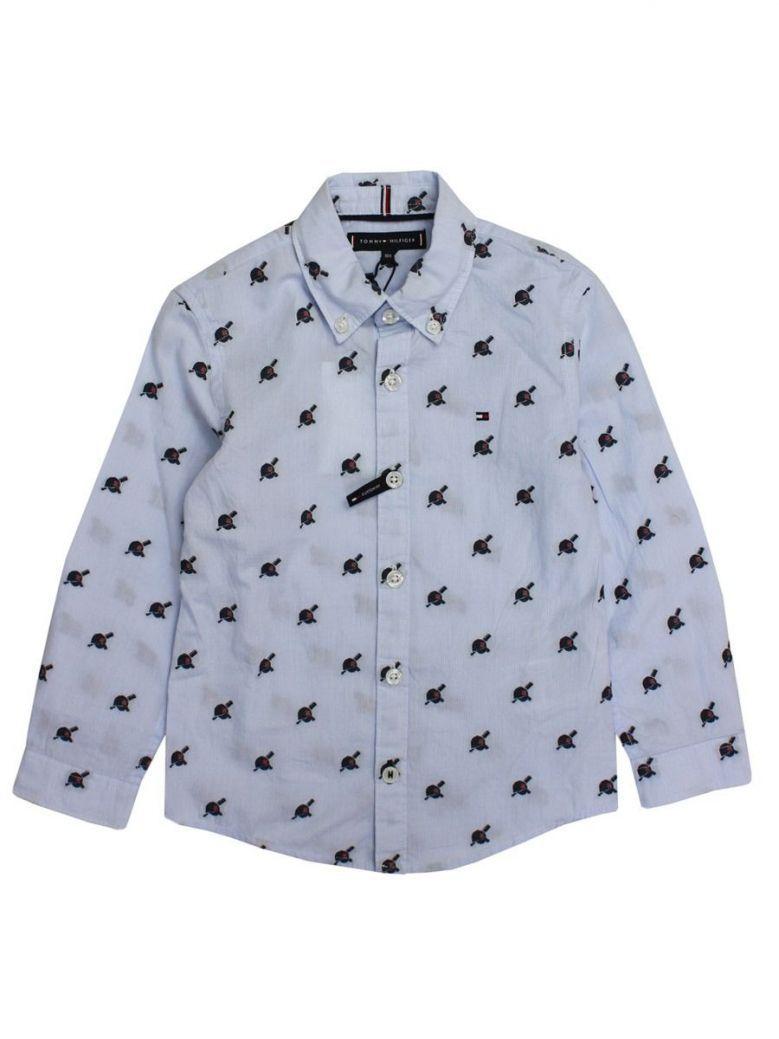 Tommy Hilfiger Blue Baseball Hat Print Shirt