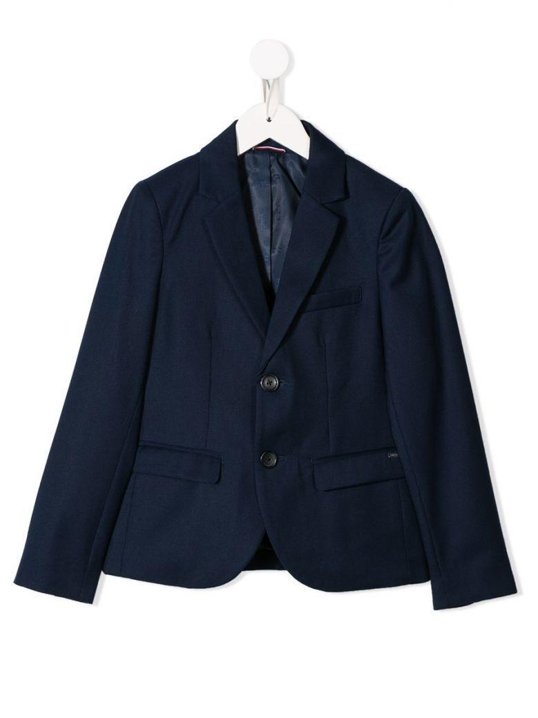 Tommy Hilfiger Navy Structured Weave Blazer
