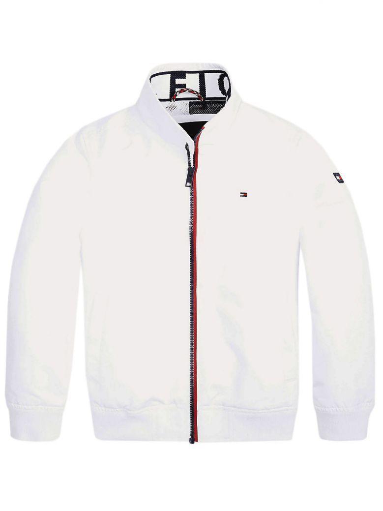 Tommy Hilfiger White Nylon Bomber Jacket