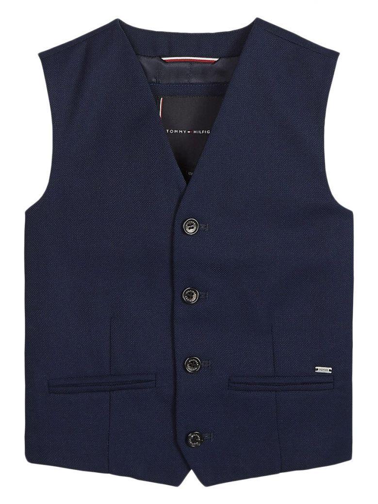 Tommy Hilfiger Navy Structured Waistcoat