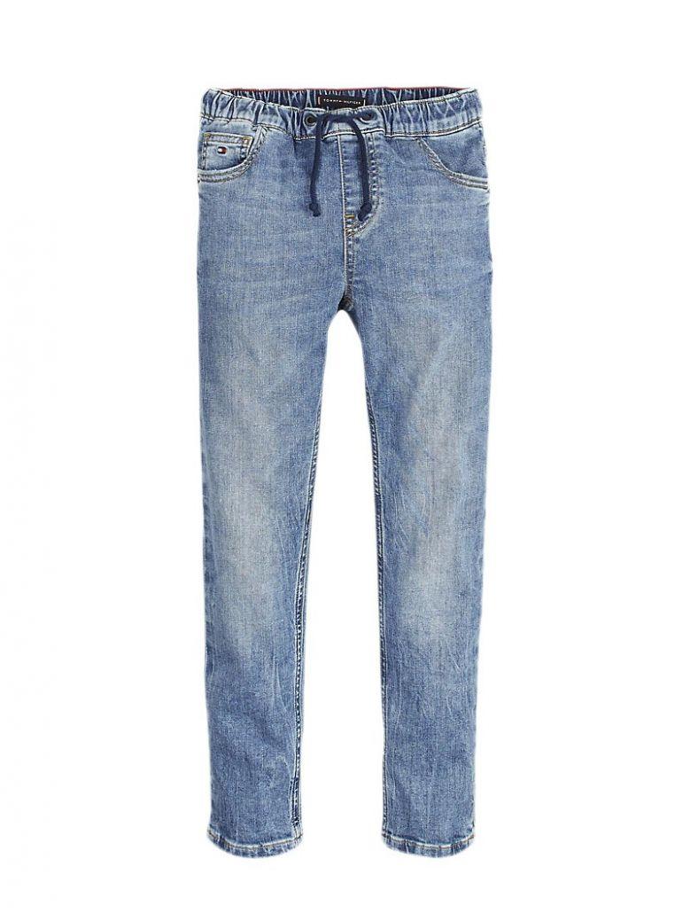 Tommy Hilfiger Kids Light Blue Drawstring Regular Fit Jeans