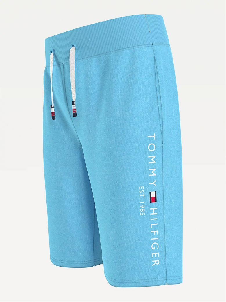 Tommy Hilfiger Kids Seashore Blue Essential Organic Cotton Jogger Shorts
