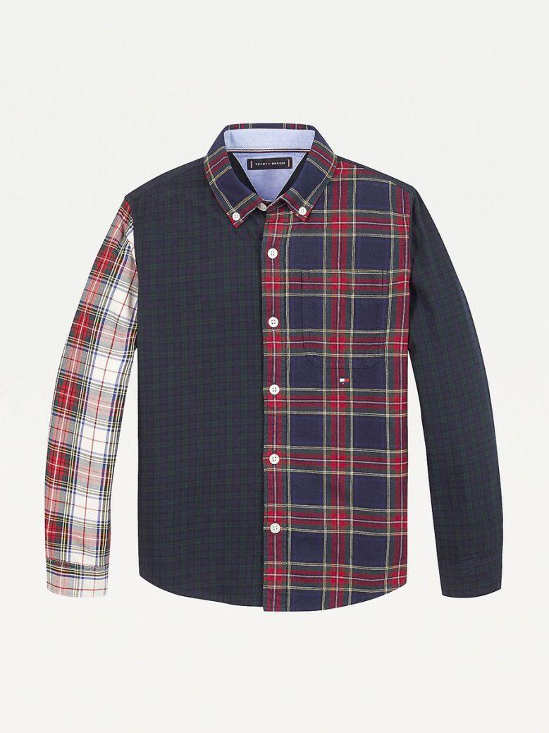 Tommy Hilfiger Kids Navy Mixed Check Shirt