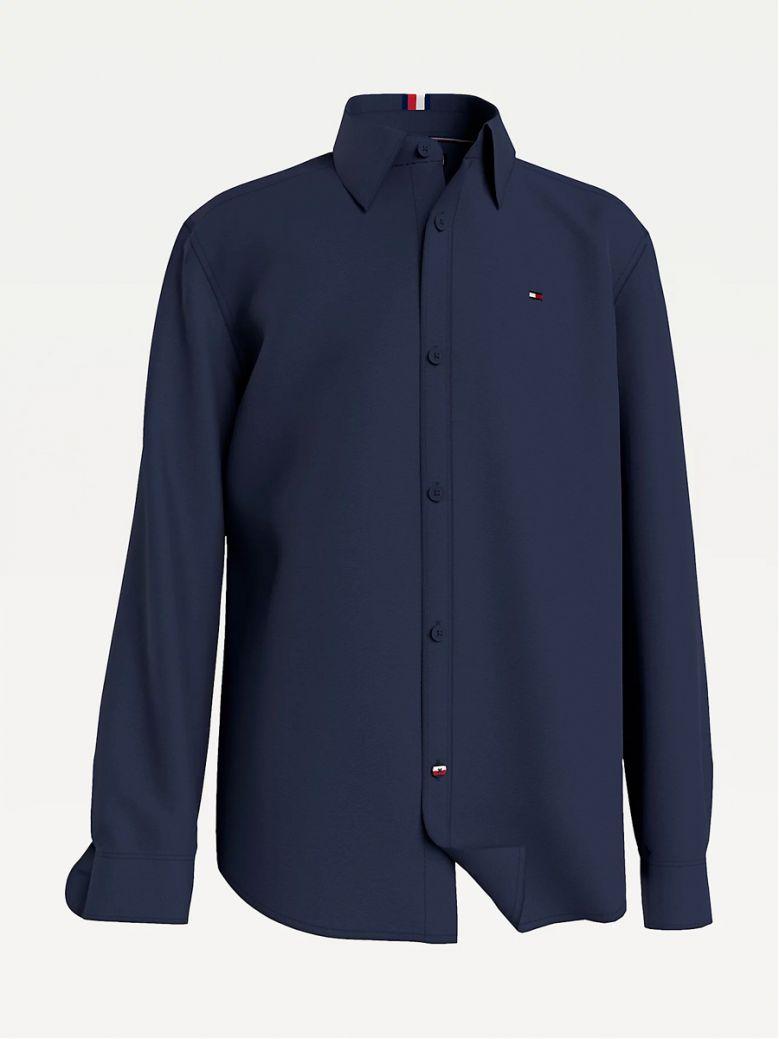 Tommy Hilfiger Kids Twilight Navy Organic Cotton Pique Shirt