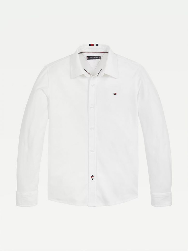 Tommy Hilfiger Kids White Organic Cotton Pique Shirt