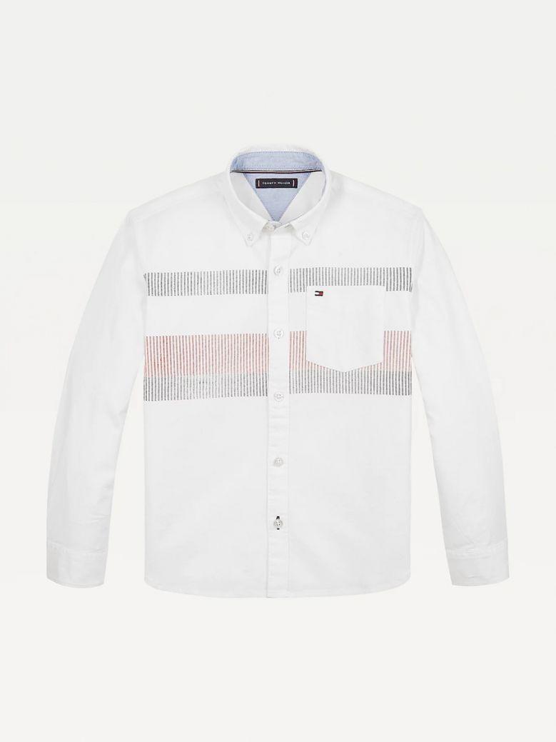 Tommy Hilfiger Kids Stripe Detail Organic Cotton Oxford Shirt