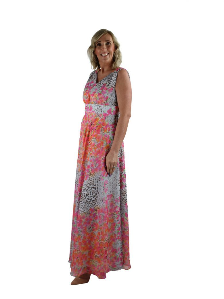 Kate Cooper Floral Print Full Length Dress