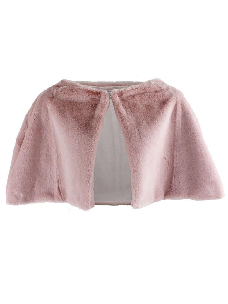 Kate Cooper Blush Short Faux Fur Cape
