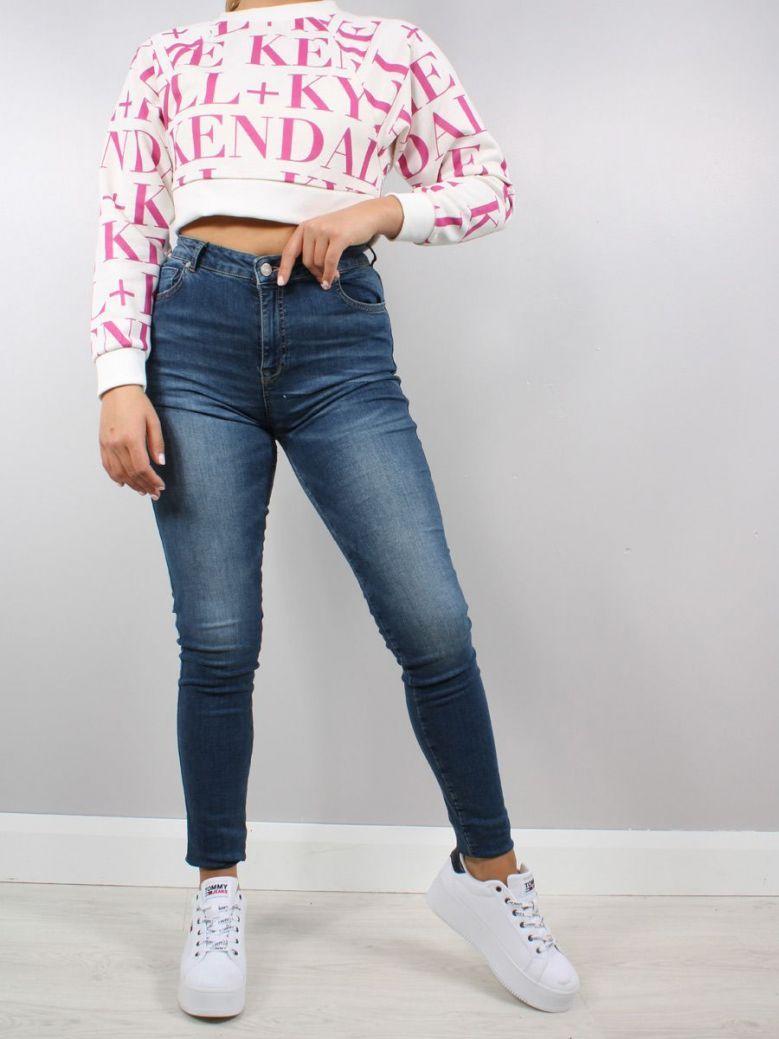 Kendall + Kylie High Rise Skinny Jeans Dark Wash