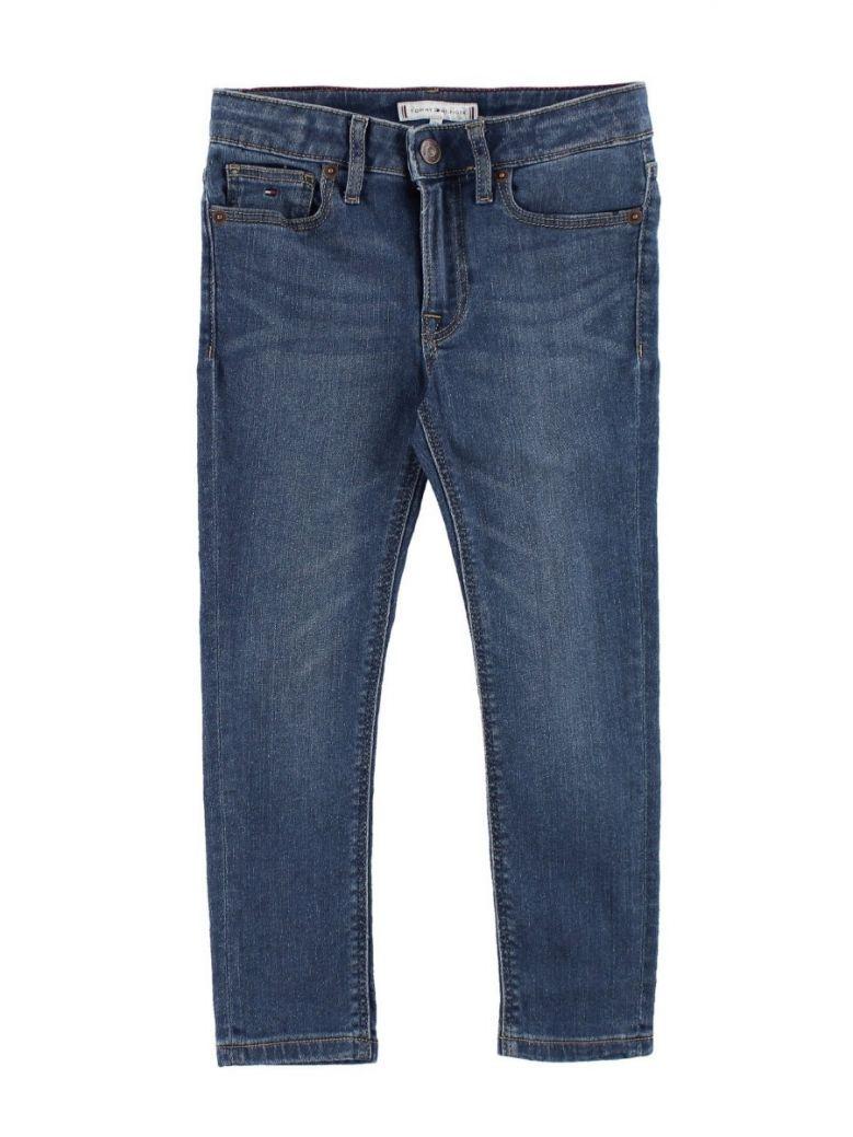 Tommy Hilfiger Kids Blue Izzy High Rise Slim Fit Jeans