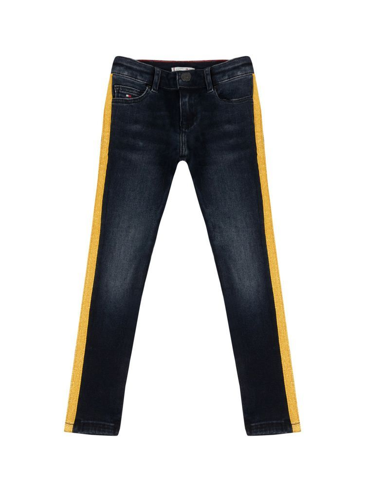 Tommy Hilfiger Kids Eve Blue Black Nora Skinny Tape Stretch Jeans