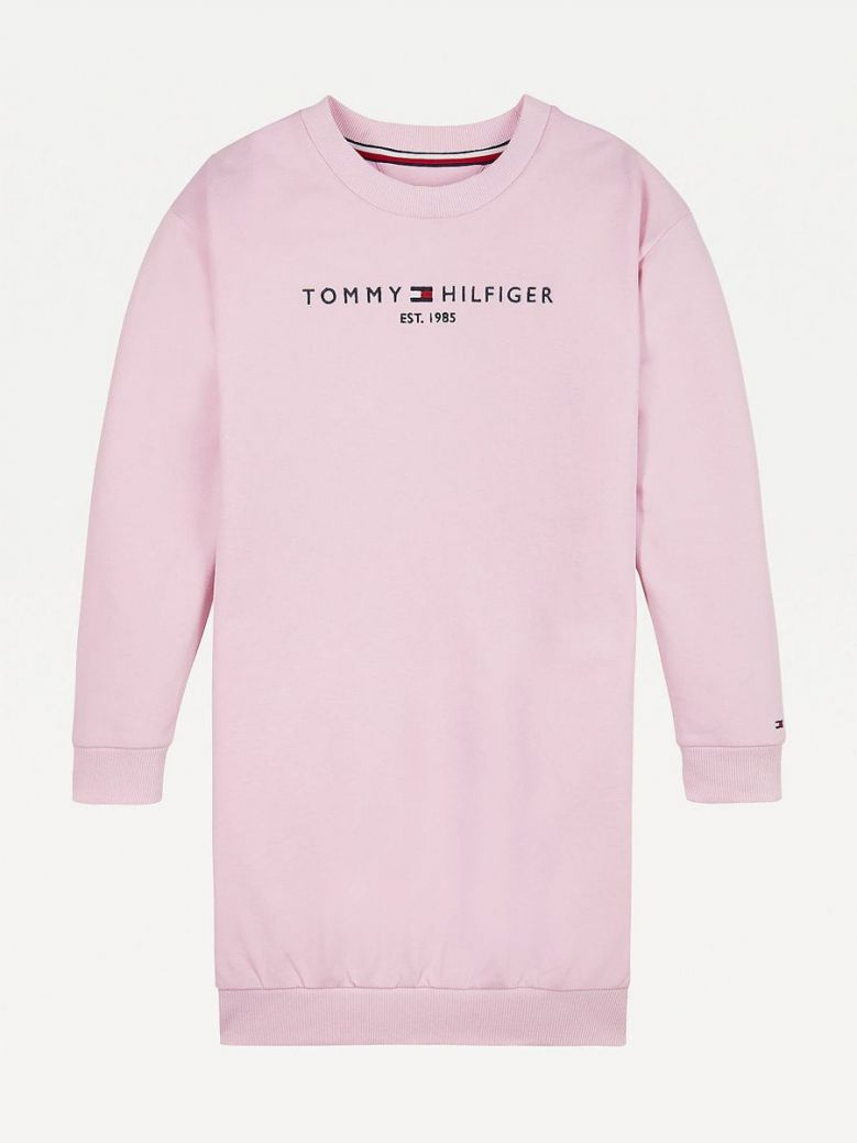 Tommy Hilfiger Kids Romantic Pink Essential Sweatshirt Dress