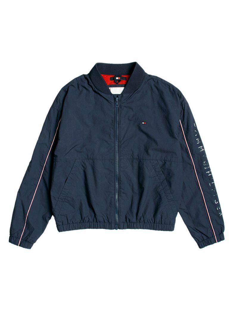 Tommy Hilfiger Kids Twilight Navy Essential Cotton Logo Bomber Jacket
