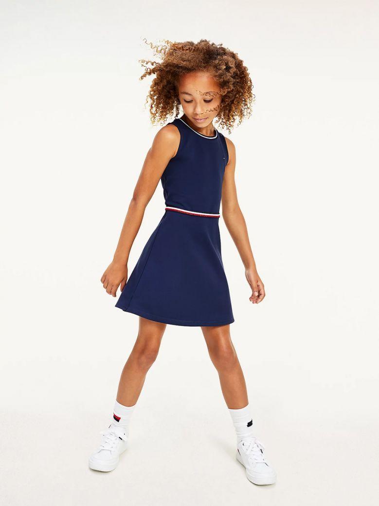 Tommy Hilfiger Kids Twilight Navy Sleeveless Skater Dress