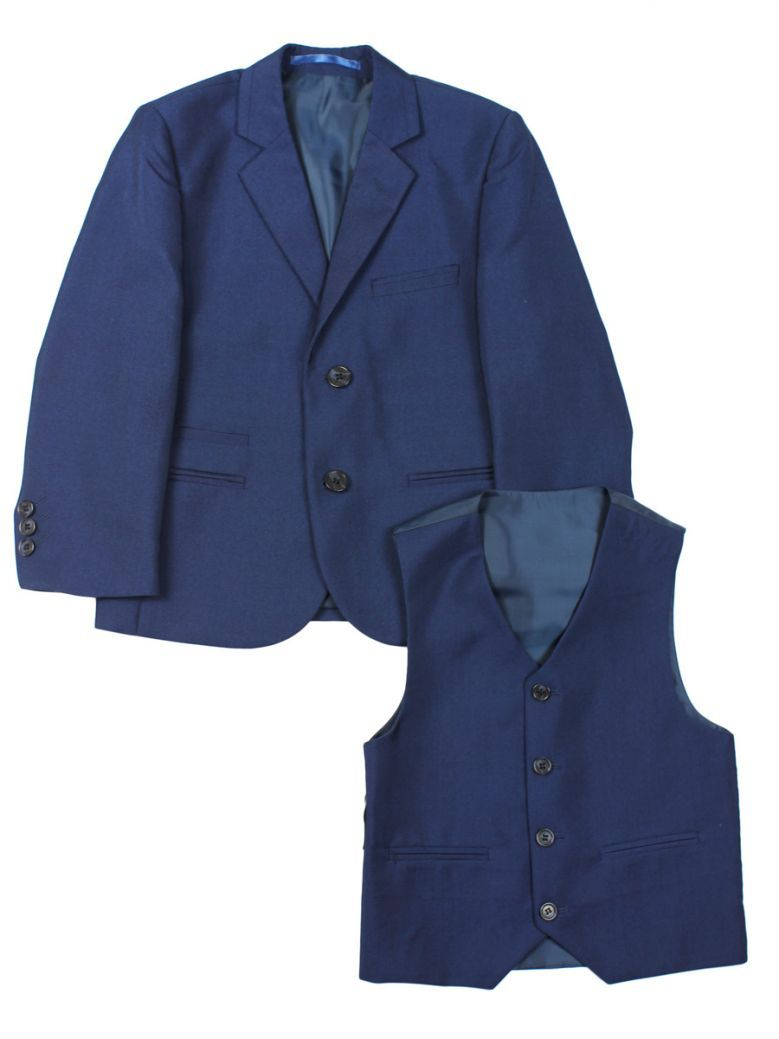 Creon Previs Boys Slim Fit 2-Piece Navy Ford Suit
