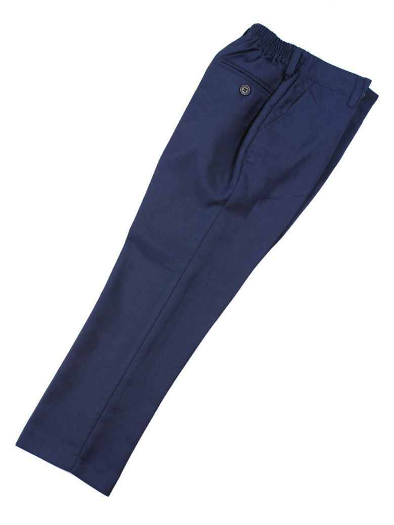 Creon Previs Boys Slim Fit Navy Ford Suit Trousers
