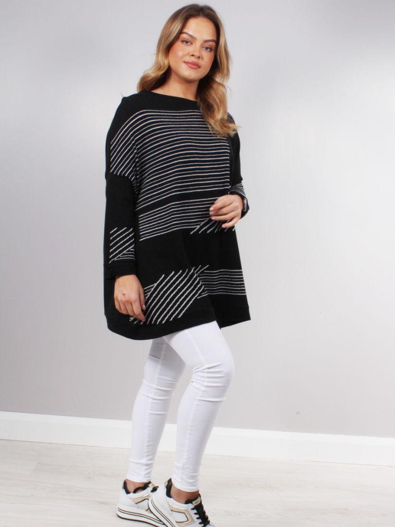 Knit Knit Black Ivory Stripe Jumper