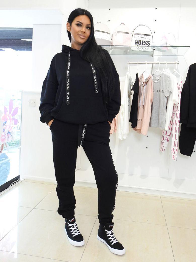 Kendall + Kylie Black Oversized Logo Hoody
