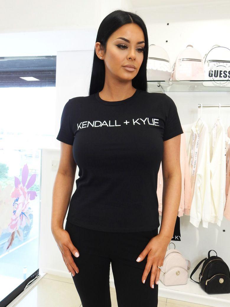 Kendall + Kylie Black Logo T-Shirt
