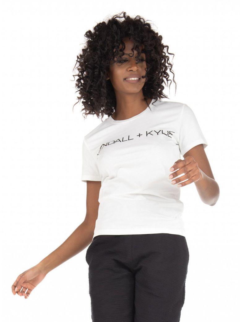 Kendall + Kylie White Logo T-Shirt