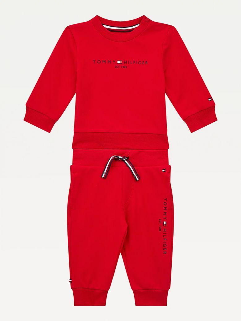 Tommy Hilfiger Kids Deep Crimson Essential Tracksuit Set