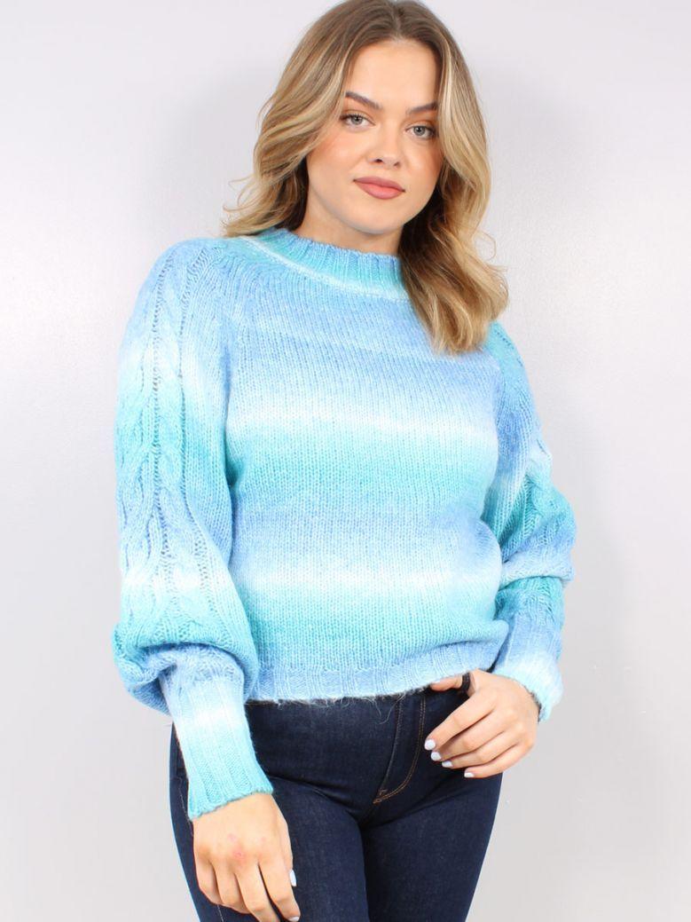 Cilento Women Blue Ombre Knit Jumper