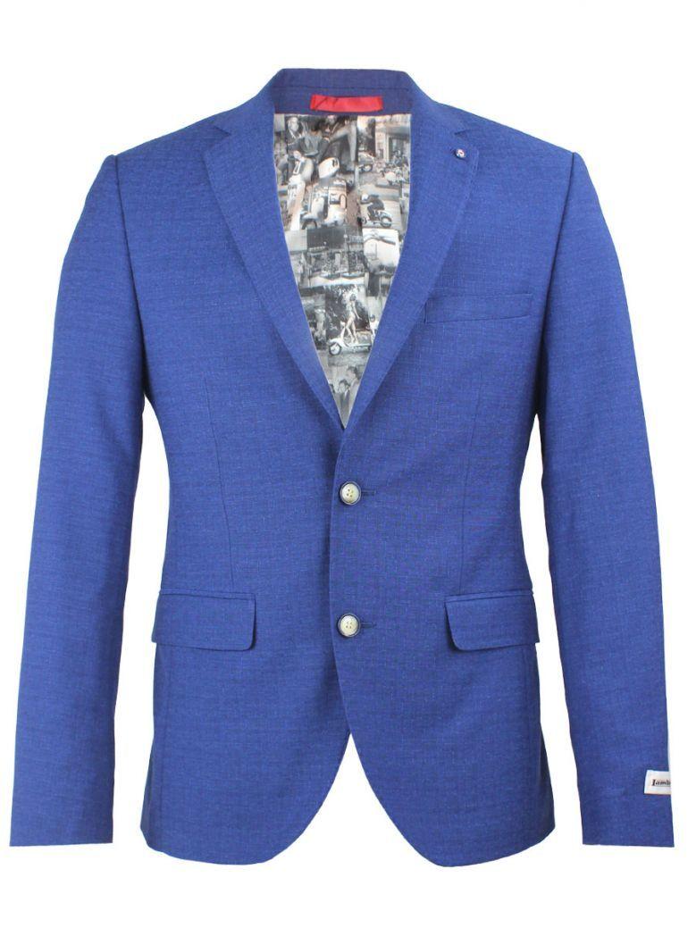Lambretta Royal Blue Slim Fit Blazer