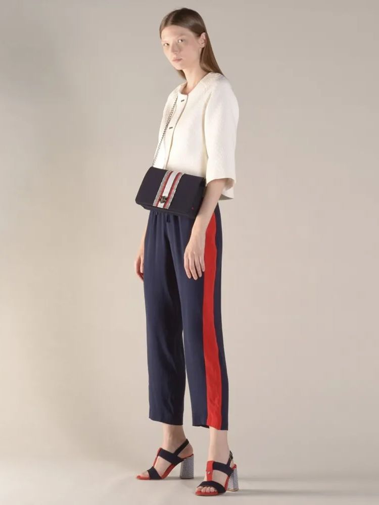 Lion of Porches Navy Drawstring Trousers