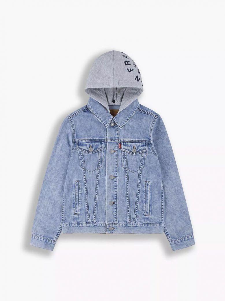Levis Kids Hooded Denim Trucker Jacket