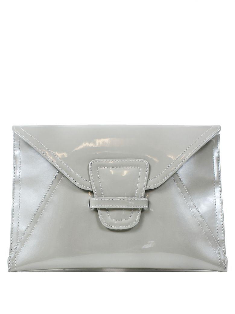 Lisa Kay Silver Patent Liberty Clutch Bag