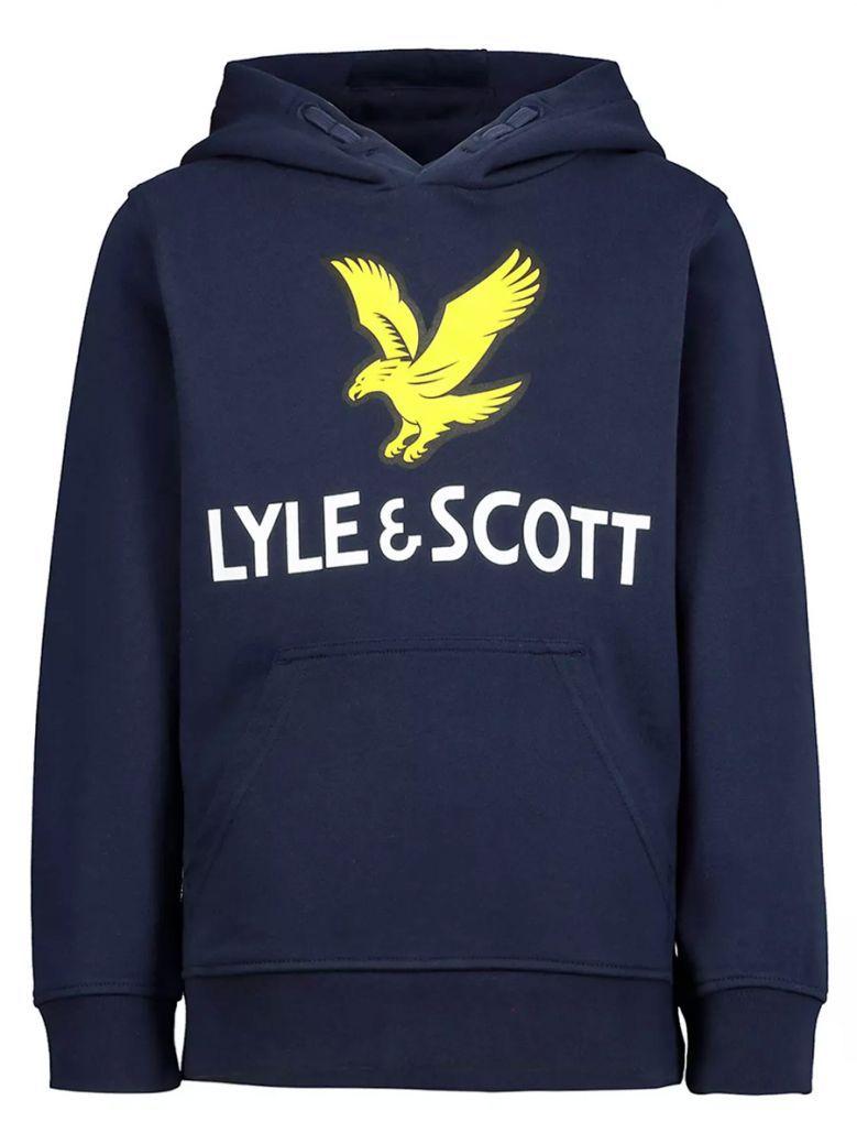 Lyle & Scott Kids Navy Logo Hoodie