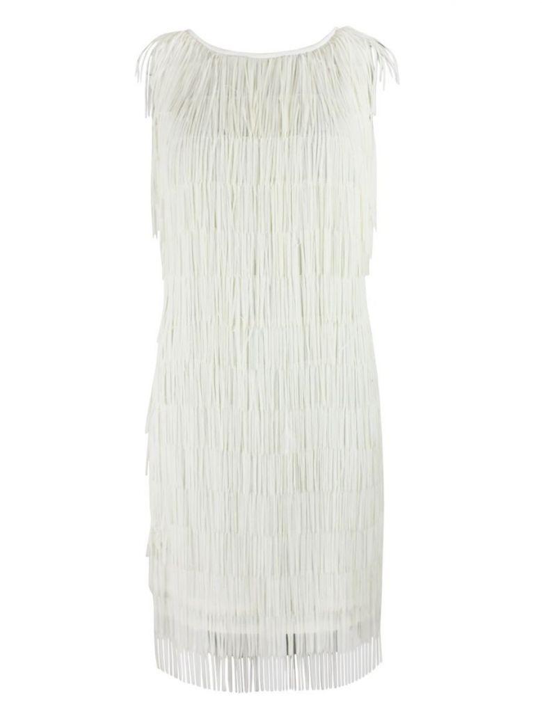Luis Civit Tassel Dress, Cream, Style D804