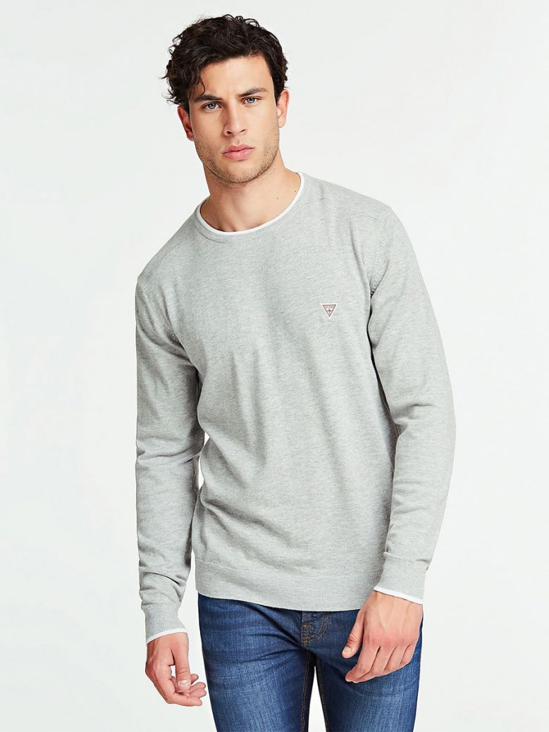 Guess Grey Slim Fit Sweater