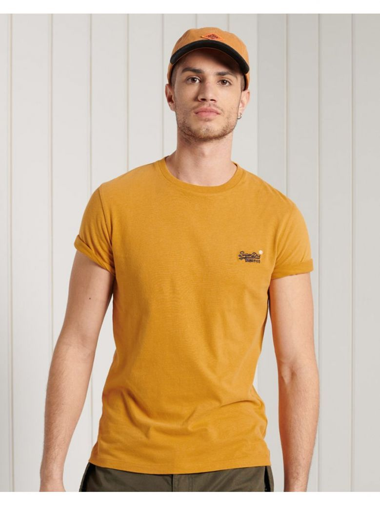 Superdry Ochre Gold Orange Label Embroidery T-Shirt