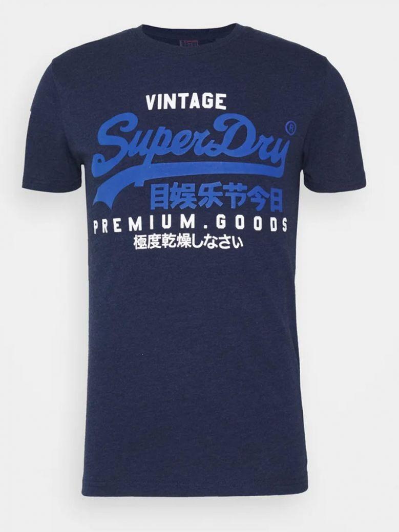 Superdry Midnight Blue Grit Vintage Logo NS Tee