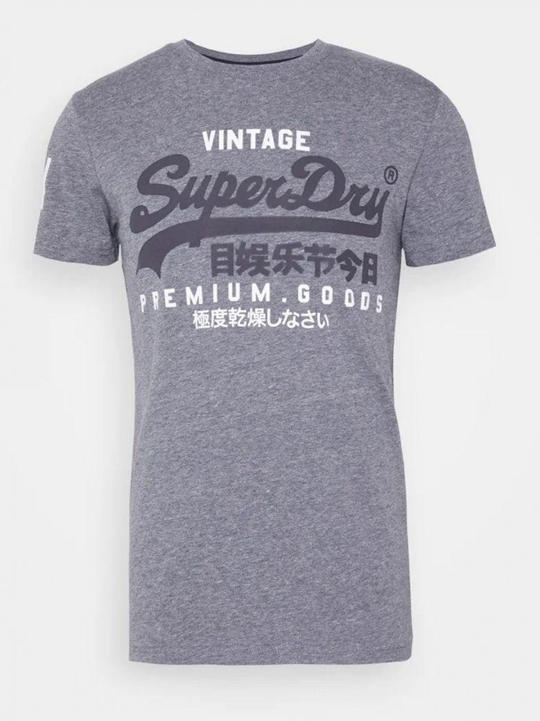 Superdry Tois Blue Heather Vintage Logo NS Tee