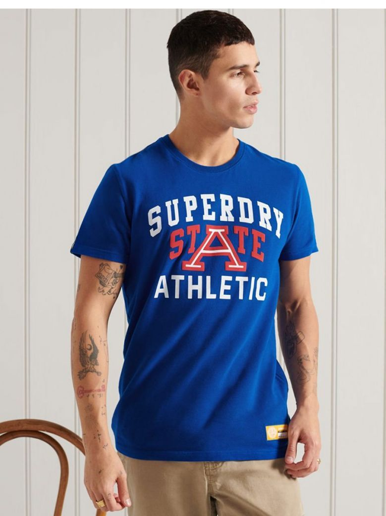Superdry Track and Field Graphic T-Shirt Blue