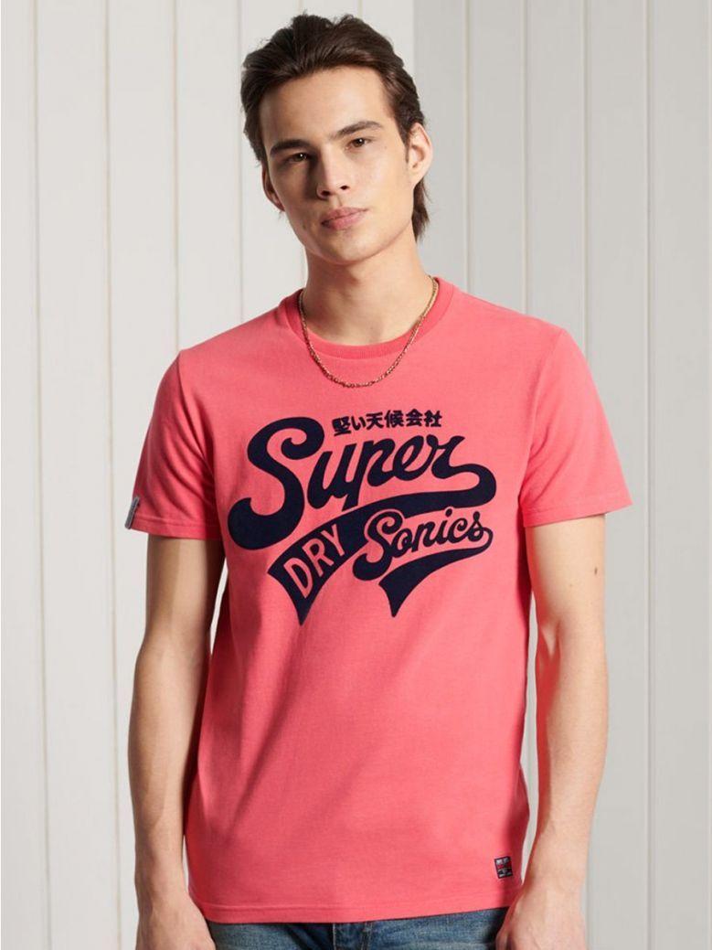 Superdry Future Fuchsia Collegiate Graphic Standard Weight T-Shirt